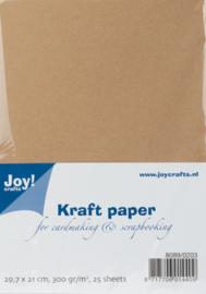 Kraft Karton A4 groot verpakking, 300 gram