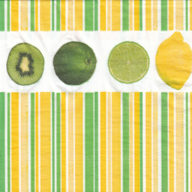Lemon, Kiwi, Limoen, servet