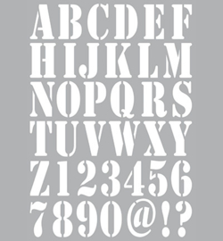 Art Alphabet, stencil