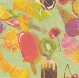 Fruitijsjes, servet
