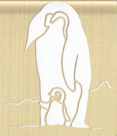Pinguïn, Embossing sjabloon