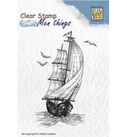 Sailing Boat, Men Things Clear Stamp