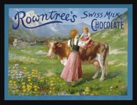 Wandbord metaal Chocolade