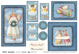 Chrstmas Angels, To-Do Rice paper
