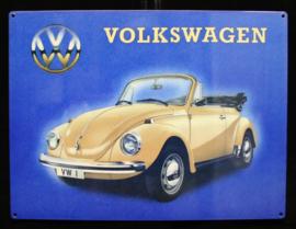 Wandbord metaal Volkswagen