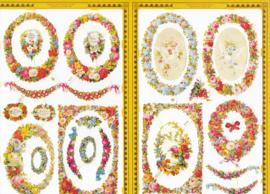 Bloemenkader, poëzieplaatje Golden serie