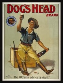 Wandbord metaal Bier Dogs Head