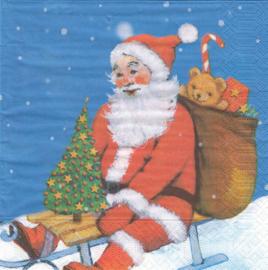 Santa on Roof, servet