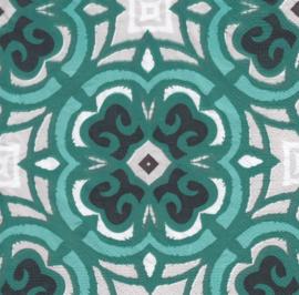 Green tile, servet