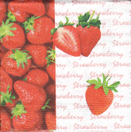 Strawberry, cocktail servet
