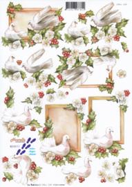 Kerst duiven, 3D Knipvel Le Suh