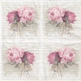 Vintage roses, servet