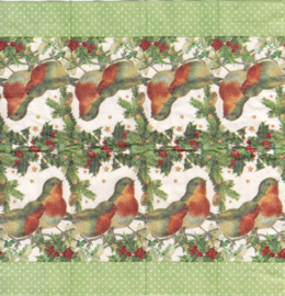 Robins in Green,  zakdoekje