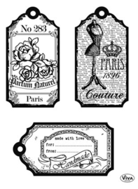 Tags Paris, Clear stamp