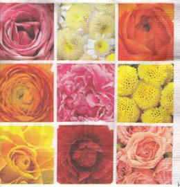 Bloemen mix, servet