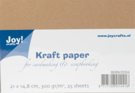 Kraft Karton A5 groot verpakking, 300gram
