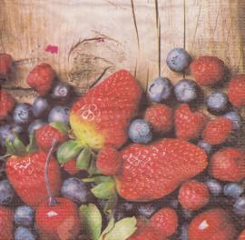 Gemengd fruit, servet