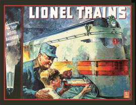 Wandbord metaal Lion Trains