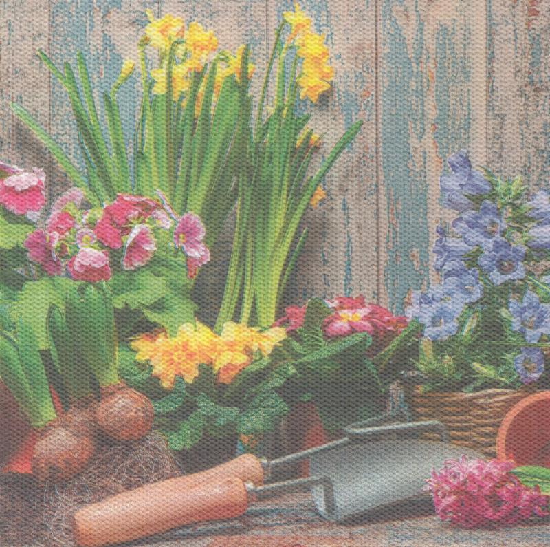 Garden scene, XL servet