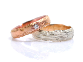 'Rough' Wedding Rings