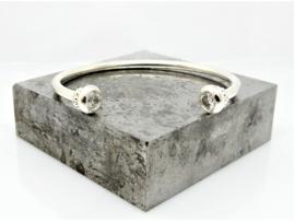 Open zilveren klemarmband