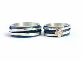 Relatie ringen zilver