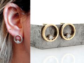 Slashes&Dots Diamond oorknop