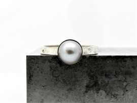 'Melted' Parelring