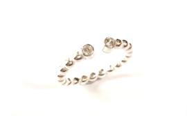 Zilveren 'open' ring