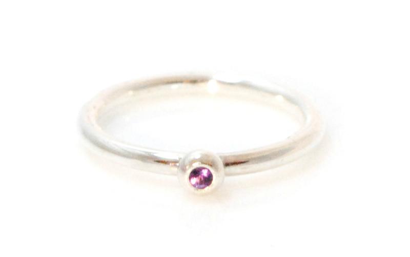 Donut ring zilver