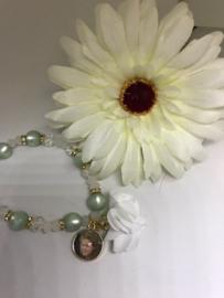 Armband 1 bedel met flower