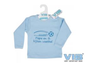 T-shirtje 'PAPA EN IK KIJKEN VOETBAL'