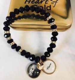Armband black/gold DUBBELE BEDEL