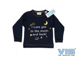 T-shirtje 'I LOVE YOU TO THE MOON AND BACK'