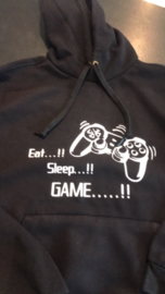 "Hoodie ""Eat, sleep and Game"""
