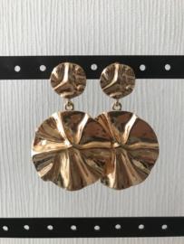 Oorbellen hangers goud