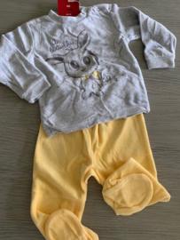 Pyjama grijs/geel