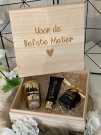 Houten box 'VOOR DE LIEFSTE METER'