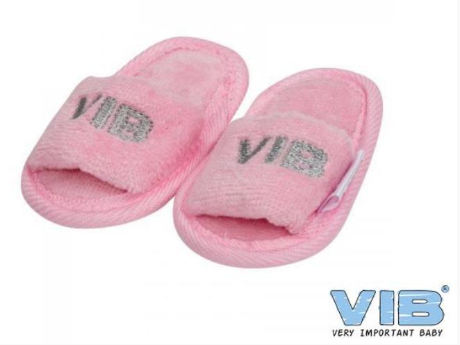 Roze slippertjes 'VIB'
