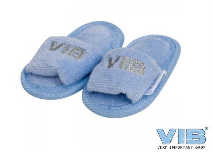Blauwe slippertjes 'VIB'