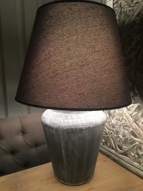 Tafel lamp met Tinnen voet