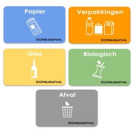 Stickers afval scheiden (5 x A5)