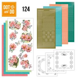 Dot & Do nr. 124 Pink flowers and butterflies