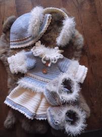 XXL Funny Bunny kledingset Winterfun Girl