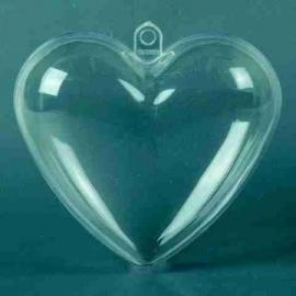 Plastic hart 10cm
