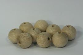Blanke houten kraal beuken, naturel 3.5cm
