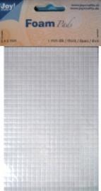 Foam pads 1mm dik 5x5mm