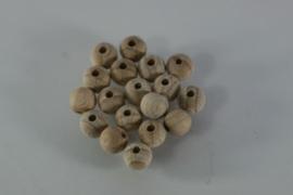 Blanke houten kraal beuken, naturel 8mm
