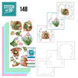 Stitch and Do 148 - Amy Design - Friendly Frogs STDO148