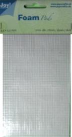 Foam pads 1mm dik  2,5x2.5mm